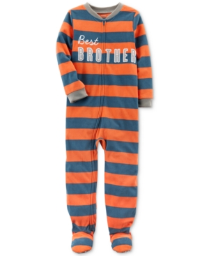 Carters 1Pc Best Brother Striped Footed Pajamas Little Boys (47)  Big Boys (820)