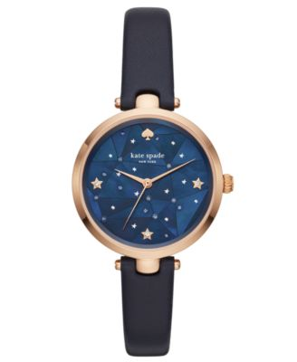 Women's Holland Navy Leather Strap 34mm