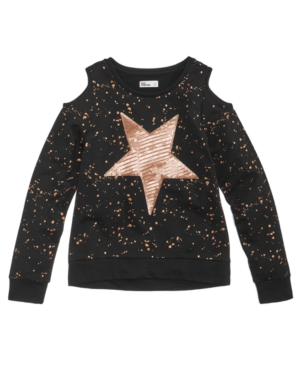 Epic Threads Sequin Star ColdShoulder Top Big Girls Created for Macys