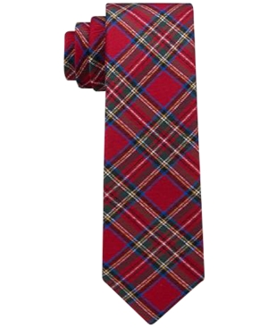 Tommy Hilfiger Traditional Tartan Necktie Big Boys (820)