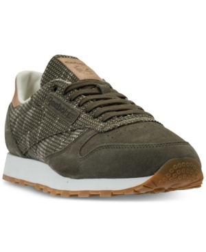 87ebbf0da4063 Reebok Men S Classic Leather Ebk Casual Sneakers From Finish Line In Army  Green Chal
