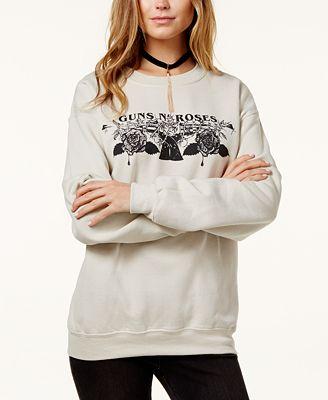Bravado Juniors' Guns & Roses Graphic Sweatshirt