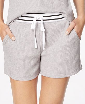 Alfani Stripe-Trimmed Thermal Pajama Shorts, Created for Macy's
