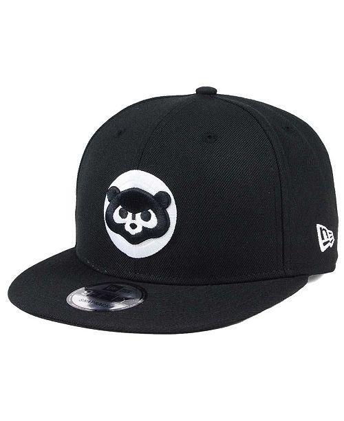 1fa146cf18e New Era Chicago Cubs Black White 9FIFTY Snapback Cap   Reviews ...