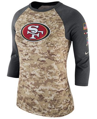 Nike WoHombres San De Francisco 49Ers Saludar A Servicio De San Tres Cuartos 0d8a88