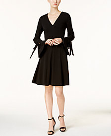Calvin Klein V-Neck Bell-Sleeve Dress