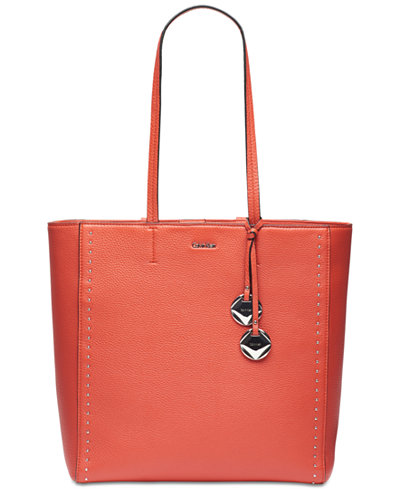 Calvin Klein Studded Pebble Extra-Large Tote