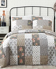 Floribunda Reversible Cotton Quilt and Sham Collection