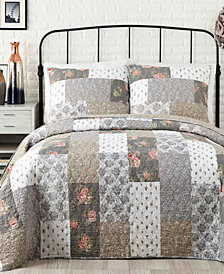 Jessica Simpson Floribunda Reversible Cotton Quilt and Sham Collection