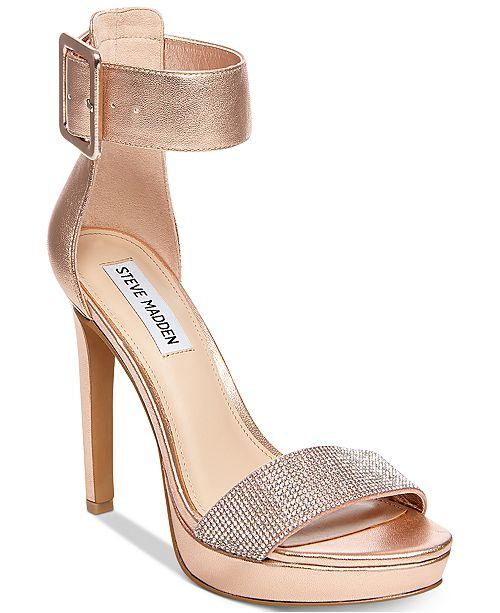 77973470ef2 Steve Madden Women s Circuit Two-Piece Dress Sandals   Reviews ...