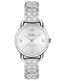 COACH Women's Delancey Stainless Steel Etched Bangle Bracelet 28mm