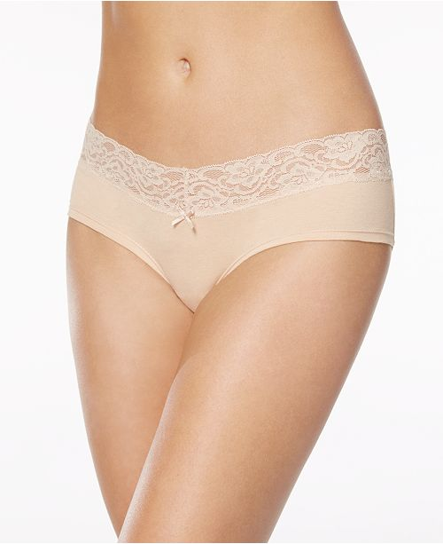 701c8c3b14cd Jenni Cotton Wide Lace Hipster, Created for Macy's & Reviews - Bras ...
