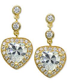 Giani Bernini Cubic Zirconia Heart Drop Earrings, Created for Macy's
