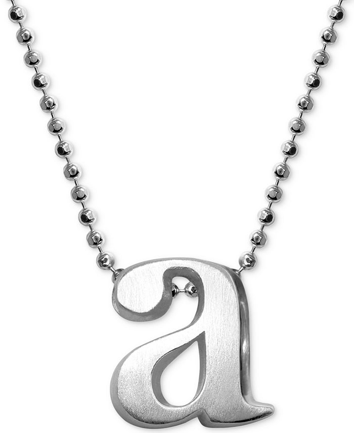 Alex Woo - Initial Pendant Necklace in Sterling Silver