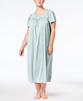 Miss Elaine Plus Size Tricot Flutter Sleeve Long Gown 70c477475