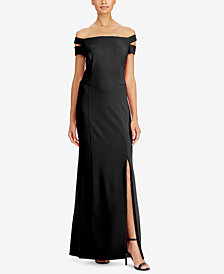 Lauren Ralph Lauren Off-The-Shoulder Crepe Gown