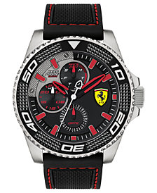 Ferrari Men's Kers Xtreme Black Silicone Strap Watch 48mm