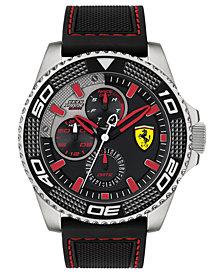Ferrari Men's Kers Xtreme Black Silicone Strap Watch 48mm