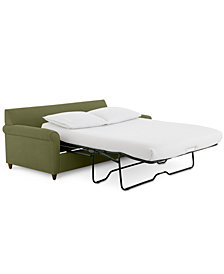 """Lidia 82"""" Fabric 2-Pc. Chaise Sectional Queen Sleeper Sofa with Storage Ottoman - Custom Colors, Created for Macy's"""