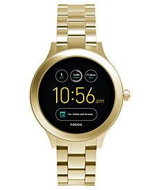 Fossil Q Women's Venture Gen 3 Gold-Tone Stainless Steel Bracelet Touchscreen Smart Watch 42mm