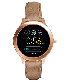 Fossil Q Women's Venture Gen 3 Light Brown Leather Strap Touchscreen Smart Watch 42mm
