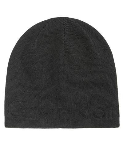 Calvin Klein Men's Embossed Logo Beanie