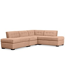 Roxanne II Performance Fabric 4-Pc. Modular Sofa with Double Bumper Chaise, Created for Macy's