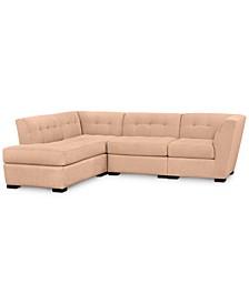 Roxanne II Performance Fabric 4-Pc. Modular Sofa with Bumper, Created for Macy's