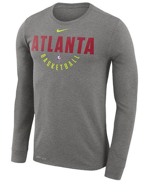 5fa4f8892 ... Nike Men s Atlanta Hawks Dri-FIT Cotton Practice Long Sleeve T-Shirt ...