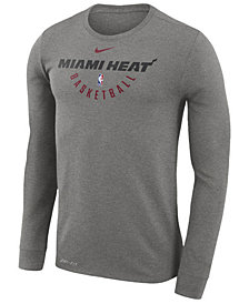 Nike Men's Miami Heat Dri-FIT Cotton Practice Long Sleeve T-Shirt
