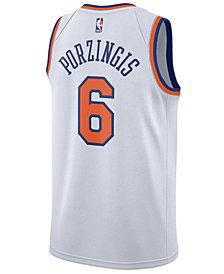 Nike Men's Kristaps Porzingis New York Knicks Association Swingman Jersey