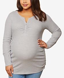 Motherhood Maternity Plus Size Henley Top