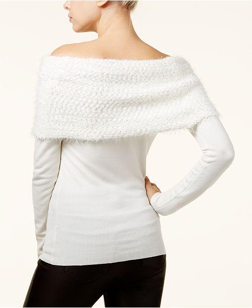 Xoxo Juniors Off The Shoulder Sweater Sweaters Juniors Macys