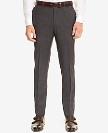 BOSS Men's Slim-Fit Check Virgin Wool Dress Pants