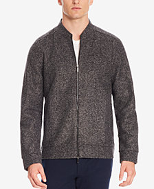 BOSS Men's Slim-Fit Italian Stretch Sweater Jacket
