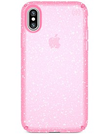 Speck Presidio Clear Glitter iPhone X Case