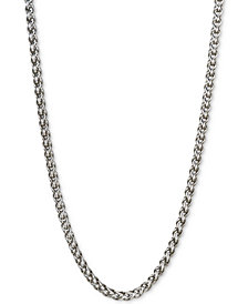 "Esquire Men's Jewelry 22"" Wheat Chain Necklace in Sterling Silver, Created for Macy's"