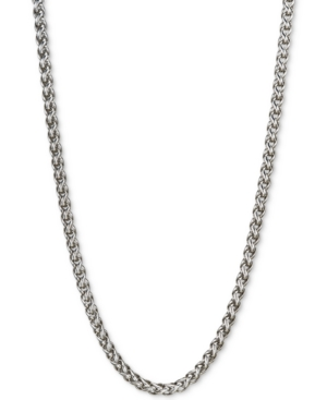 """22"""" Wheat Chain Necklace in Sterling Silver"""