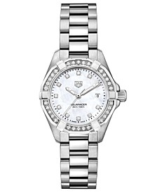 Women's Swiss Aquaracer Diamond (1/2 ct. t.w.) Stainless Steel Bracelet Watch 27mm