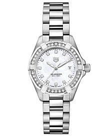 TAG Heuer Women's Swiss Aquaracer Diamond (1/2 ct. t.w.) Stainless Steel Bracelet Watch 27mm
