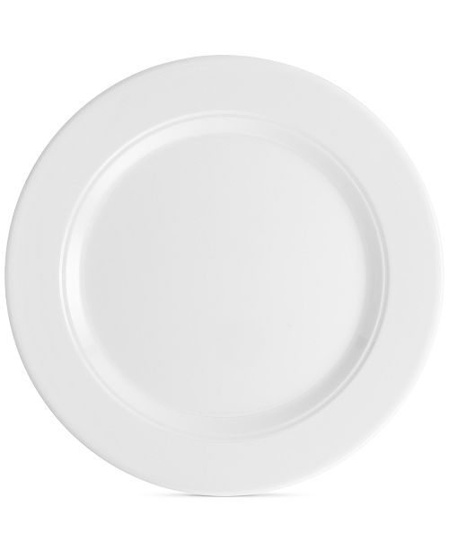 "Q Squared Diamond 10.5"" Round Melamine Dinner Plate, Set of 4"