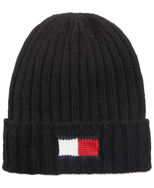 994eaa71b48 Tommy Hilfiger Men s Logo Beanie   Reviews - Hats