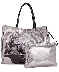 Betsey Johnson In A Flash Shopper Tote with Pouch