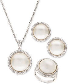 Cultured Mabé Pearl Jewelry Collection in Sterling Silver
