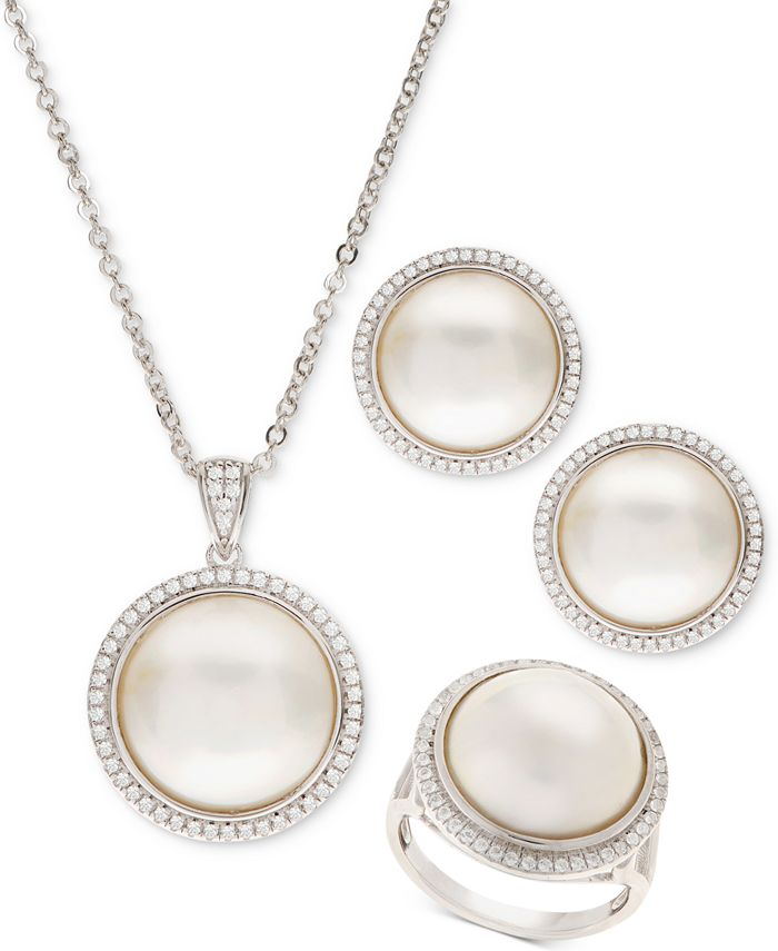 Macy's - Mabé Pearl Jewelry Collection in Sterling Silver