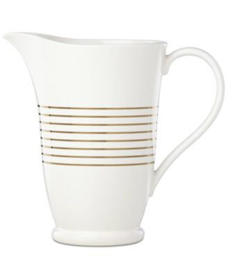 Charles Lane™ Gold-Tone Stripe Accents Pitcher, Created for Macy's