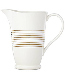 kate spade new york Charles Lane™ Gold-Tone Stripe Accents Pitcher, Created for Macy's