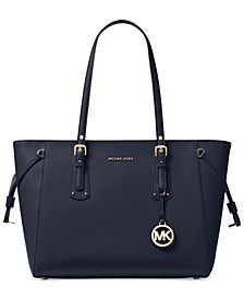 Voyager Medium Crossgrain Leather Tote