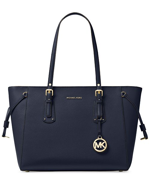 Michael Kors Voyager Medium Crossgrain Leather Tote   Reviews ... e4563ee6cbf82