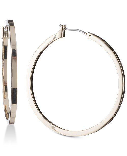 "DKNY 1 1/2"" Thin Hoop Earrings, Created for Macy's"
